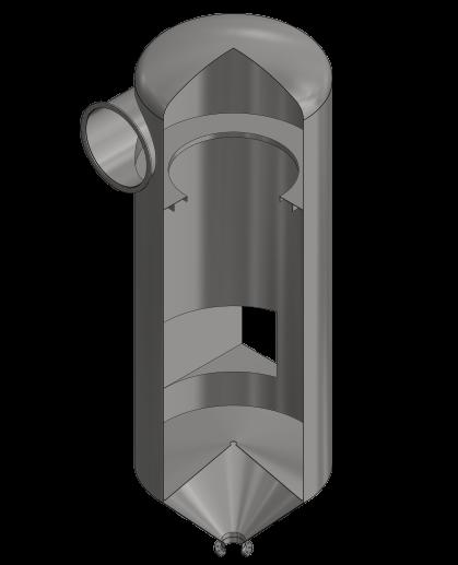 Centrifugal droplet separator